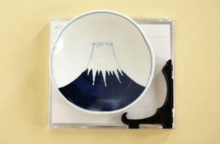 和食器通販 金照堂 富士山 飾り皿(皿立付)