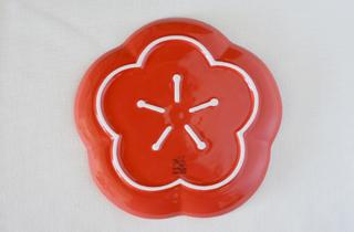 和食器通販 金照堂 香梅 プレート(M)(赤)or(白)