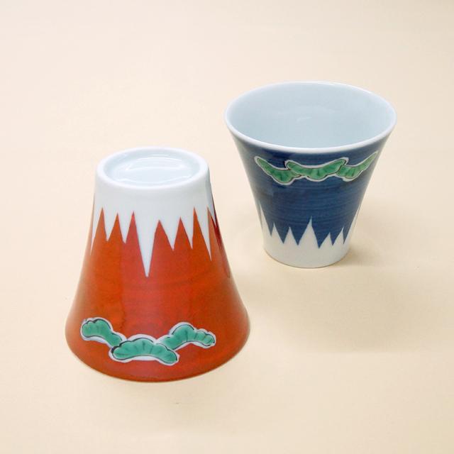 【和食器通販 金照堂】富士山(三保の松原)ペアカップ
