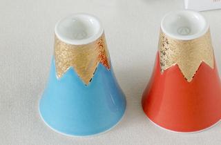 【和食器通販 金照堂】 朝映ショットグラス 富士山 記念品 ギフト 外国 プレゼント 贈答 お土産