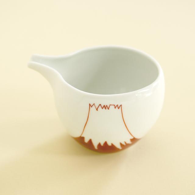 【和食器通販 金照堂】陶房青 赤富士片口酒器